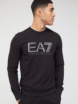 EA7 Emporio Armani Ea7 Emporio Armani Visibility Logo Sweatshirt - Black Picture
