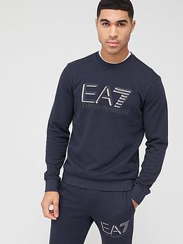 EA7 Emporio Armani Ea7 Emporio Armani Visibility Logo Sweatshirt - Navy Picture