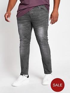 river-island-big-and-tall-grey-sid-skinny-jeans