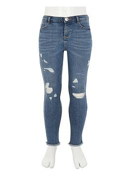 River Island River Island Girls Amelie Skinny Jeans - Blue Picture