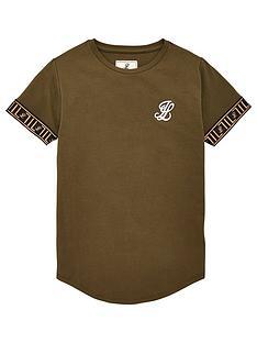 illusive-london-boys-tech-short-sleeve-t-shirt-khaki