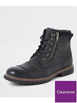 river-island-black-double-zip-lace-up-wide-fit-boots