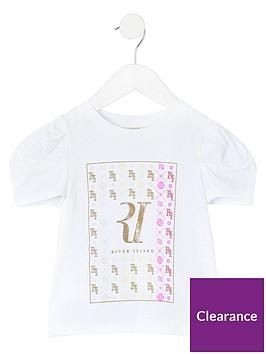 river-island-mini-girls-poplin-sleeve-t-shirt--nbspwhite