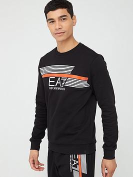 EA7 Emporio Armani Ea7 Emporio Armani 7 Lines Logo Sweatshirt - Black Picture