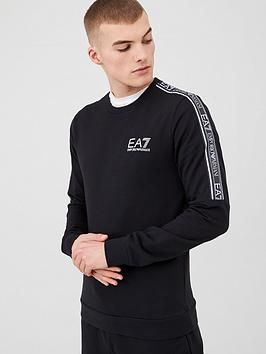 EA7 Emporio Armani Ea7 Emporio Armani Tape Logo Sweatshirt - Black Picture