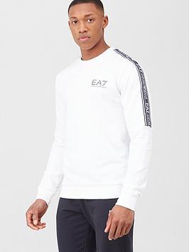 EA7 Emporio Armani Ea7 Emporio Armani Tape Logo Sweatshirt - White Picture