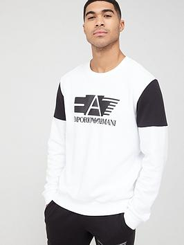 EA7 Emporio Armani Ea7 Emporio Armani Natural Ventus Logo Sweatshirt -  ... Picture