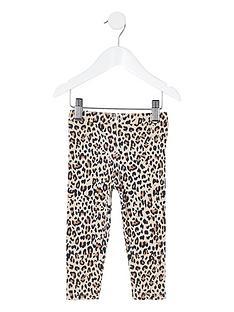 river-island-mini-mini-girls-leopard-print-legging-brown