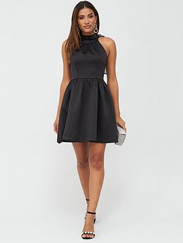 V by Very V By Very Organza Bow Back Mini Prom Dress - Black Picture