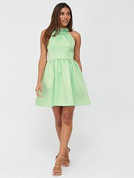 V by Very V By Very Organza Bow Back Mini Prom Dress - Mint Picture