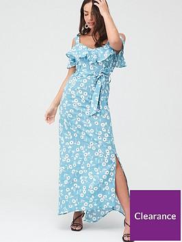 v-by-very-cold-shoulder-cotton-maxi-dress-blue-floral