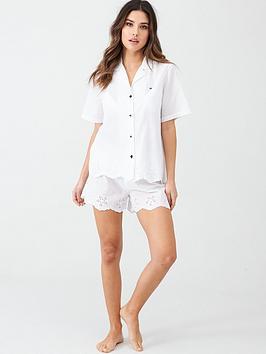 tommy-hilfiger-woven-short-set-white