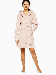 topshop-spot-textured-robe-pink