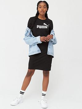 Puma Ess+ T-Shirt Dress - Black