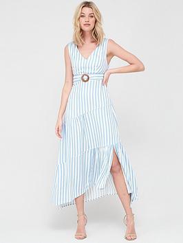 V by Very V By Very V-Neck Cotton Maxi Dress - Stripe Picture