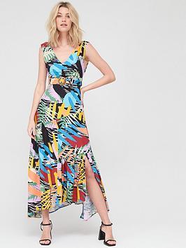 V by Very V By Very V Neck Cotton Maxi Dress - Tropical Print Picture