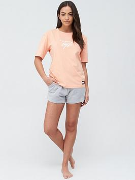 Tommy Hilfiger Tommy Hilfiger Short Sleeve Logo Pj Top - Orange Picture