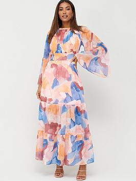 V by Very V By Very Shirred Waist Tiered Maxi - Print Picture