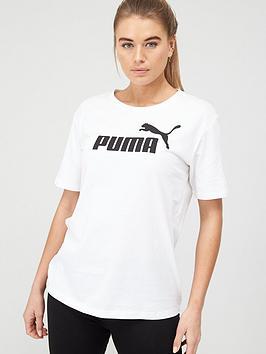 Puma Puma Essentials Logo Boyfriend T-Shirt - White Picture