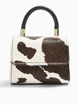 Topshop Topshop Cindy Mini Cross-Body Cow Print Bag - Multi Picture