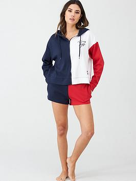 tommy-hilfiger-colourblock-hoodie--navy