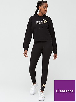 puma-ess-metallic-cropped-hoodie-amp-legging-set-blacknbsp