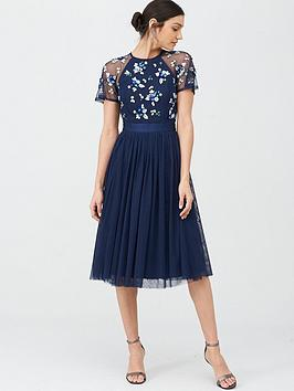 V by Very V By Very Embellished Tulle Bridesmaid Prom Dress - Navy Picture