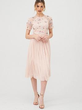 V by Very V By Very Embellished Tulle Bridesmaid Prom Dress - Blush Picture