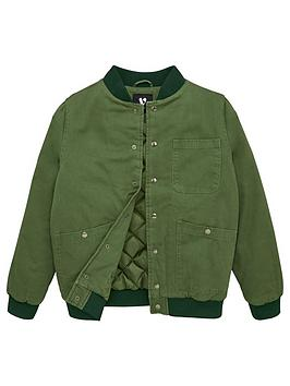 V by Very V By Very Boys Twill Quilted Bomber Jacket - Khaki Picture
