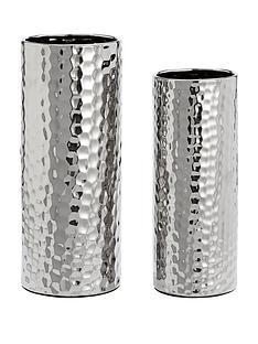 set-of-2-hammered-vases