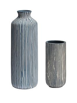 Very Set Of 2 Striped Vases Picture