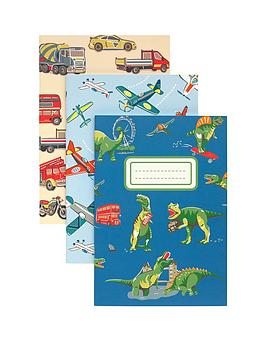 cath-kidston-dino-in-london-3-pack-notebooks-amp-pencils