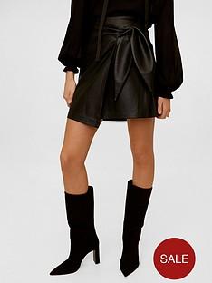 mango-leather-effect-mini-skirt-black