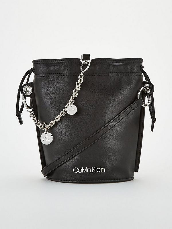 calvin klein bucket bag black