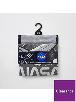 river-island-black-nasa-print-short-pyjama-set