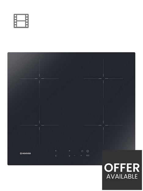 hoover-h-hob-300-hic642-60cm-inductionnbsphob-withnbsp4-booster-zones-front-touch-controls--nbspblack-glass