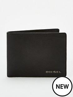 diesel-leather-small-logo-bifold-wallet-black