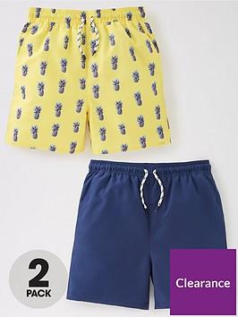 v-by-very-boys-2-pack-pineapple-and-plainnbspswimshort-yellow