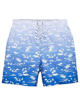 V by Very V By Very Boys Island Ombre Print Swim Shorts - Blue Picture