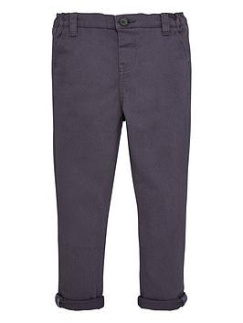 V by Very V By Very Boys Stretch Chino Trousers - Grey Picture