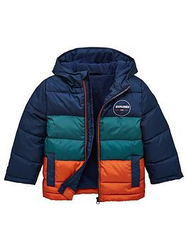 V by Very V By Very Boys Colourblock Padded Coat - Multi Picture