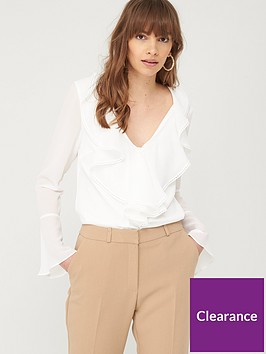 v-by-very-ruffle-front-blouse-ivory