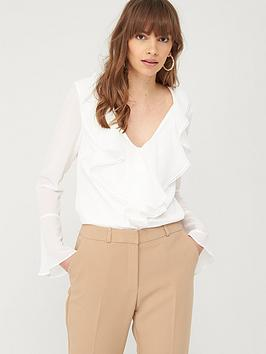 V by Very V By Very Ruffle Front Blouse - Ivory Picture