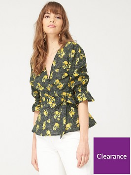 v-by-very-cotton-wrap-blouse-black-floral