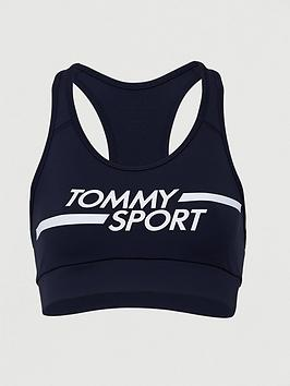 Tommy Hilfiger Tommy Hilfiger Medium Support Logo Sports Bra - Navy Picture