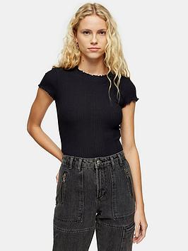 topshop-rib-lettuce-hem-t--shirt-black