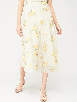 V by Very V By Very Chiffon Printed Midi Skirt - Floral Picture