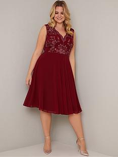 chi-chi-london-curve-thalia-dress-burgundy