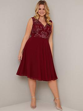 Chi Chi London Curve Chi Chi London Curve Thalia Dress - Burgundy Picture