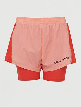 Tommy Hilfiger Tommy Hilfiger 2-In-1 Woven Shorts - Coral Picture